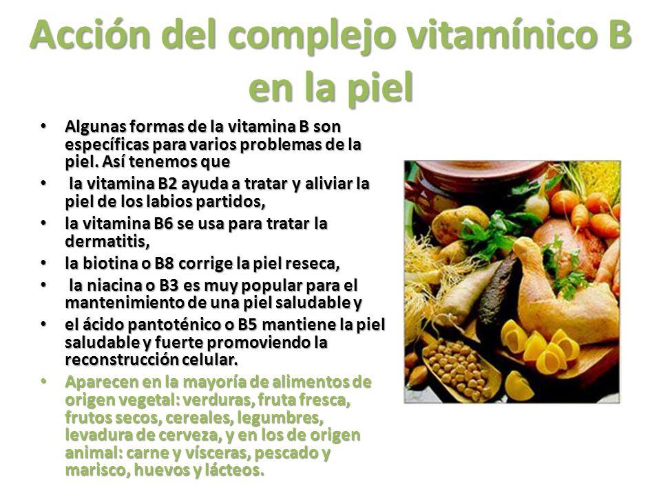 Acción del complejo vitamínico B en la piel