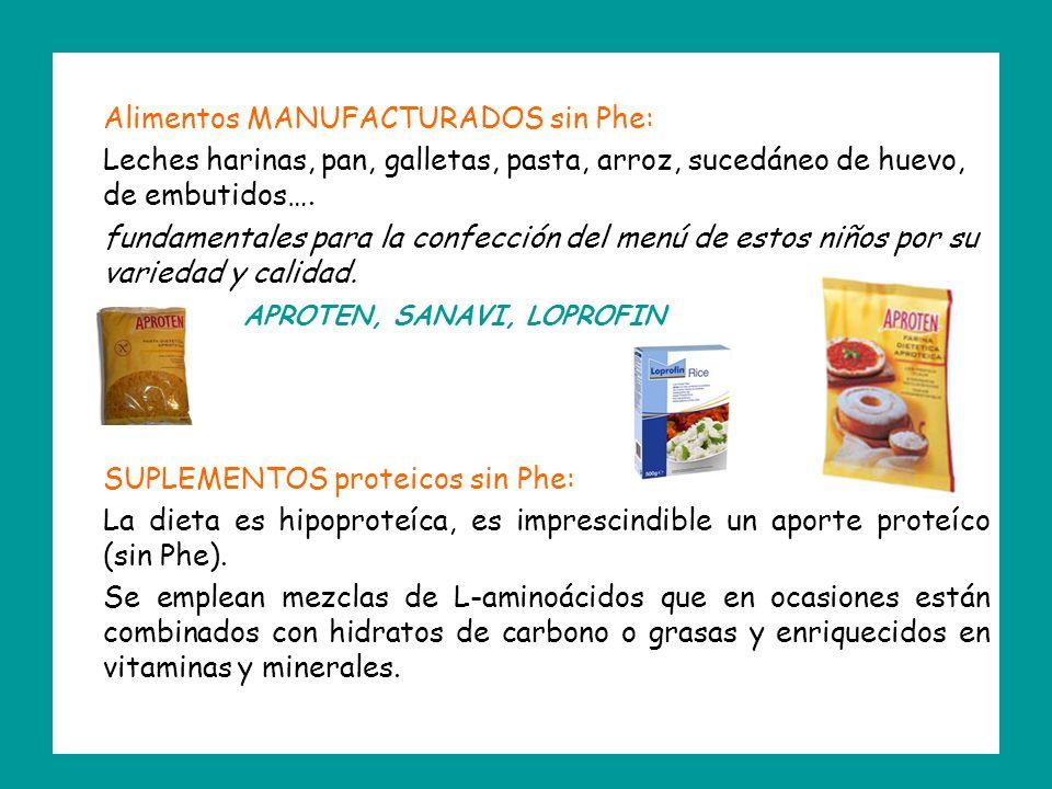 Alimentos MANUFACTURADOS sin Phe: