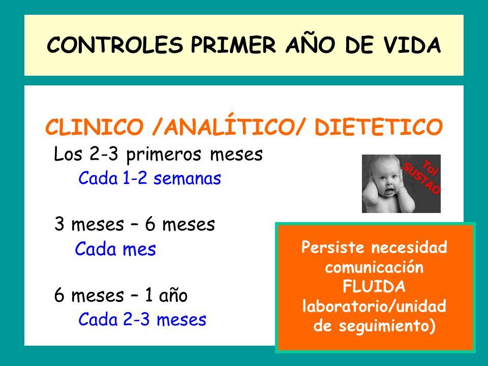 CONTROLES PRIMER AÑO DE VIDA