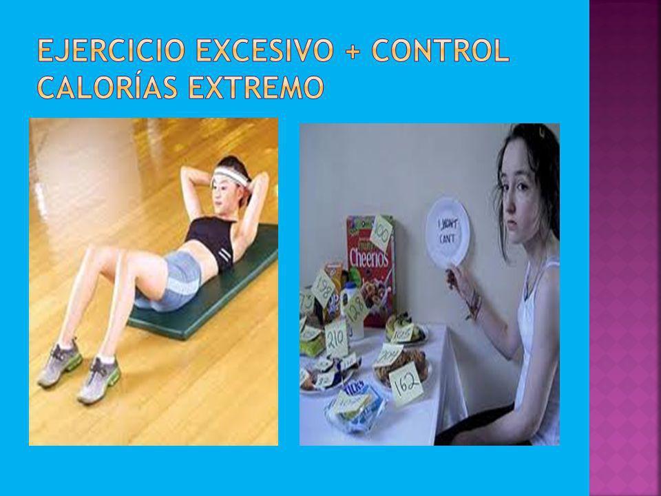 Ejercicio excesivo + control calorías extremo