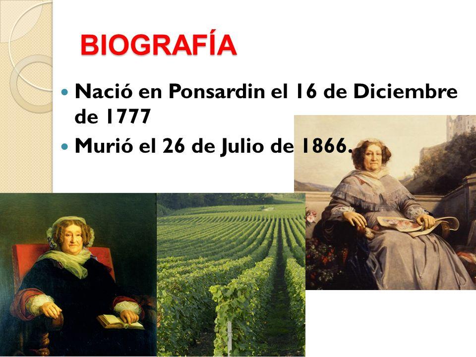 BIOGRAFÍA Nació en Ponsardin el 16 de Diciembre de 1777