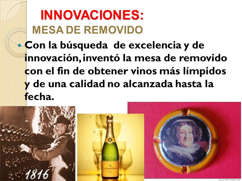 INNOVACIONES: MESA DE REMOVIDO