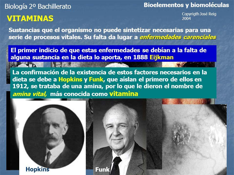 VITAMINAS Biología 2º Bachillerato Bioelementos y biomoléculas