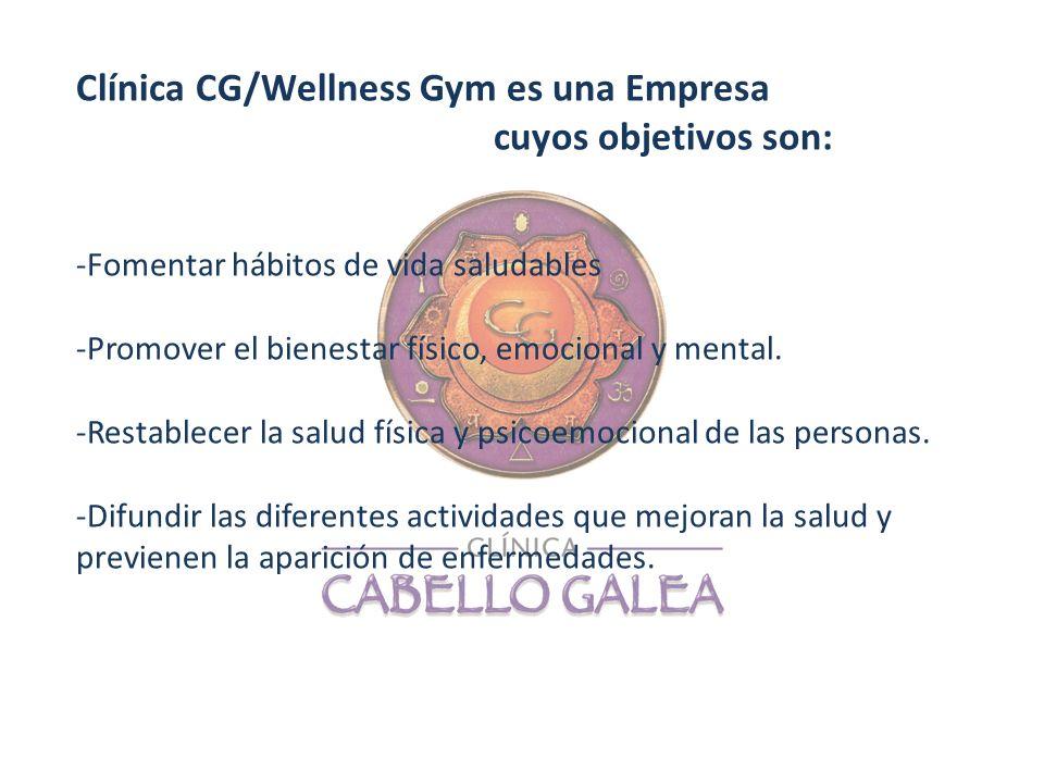 Clínica CG/Wellness Gym es una Empresa cuyos objetivos son: