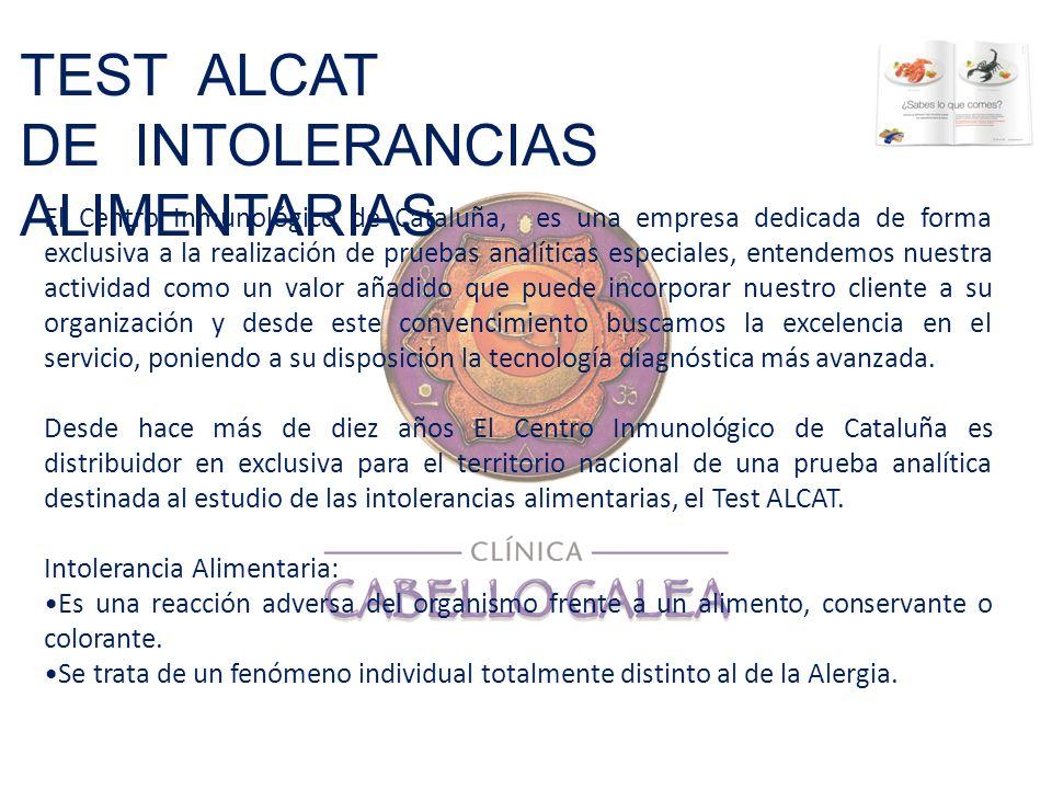 DE INTOLERANCIAS ALIMENTARIAS