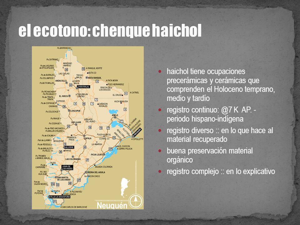 el ecotono: chenque haichol