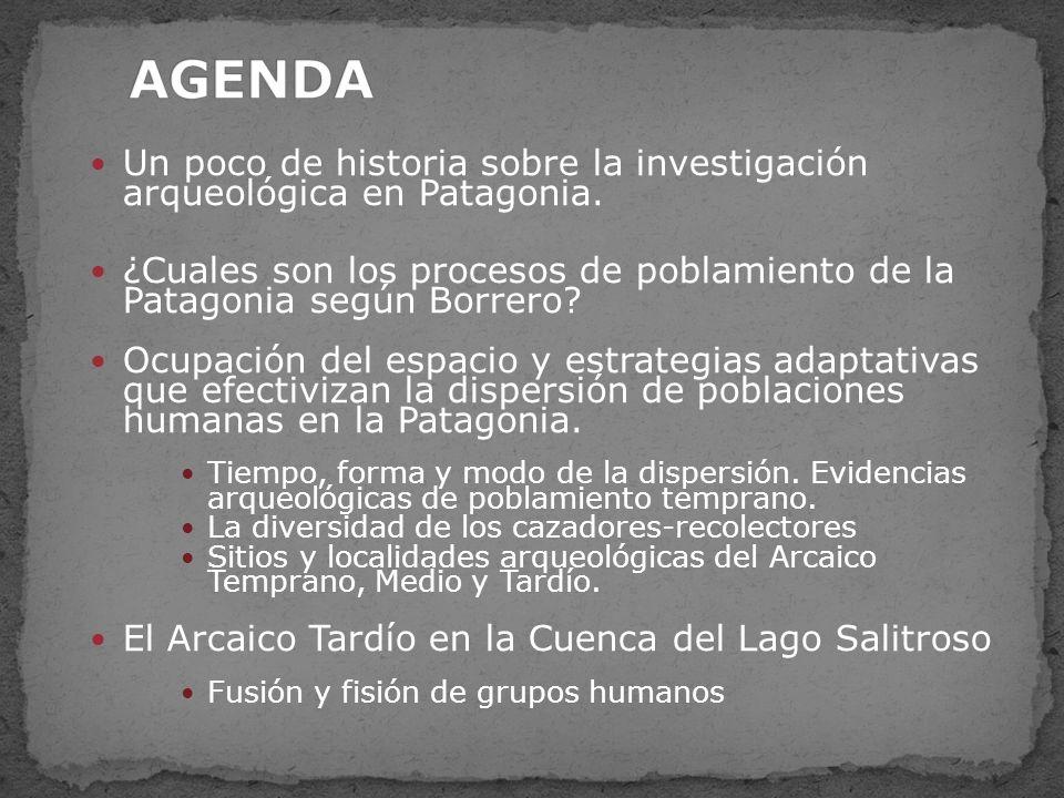 AGENDA Un poco de historia sobre la investigación arqueológica en Patagonia.