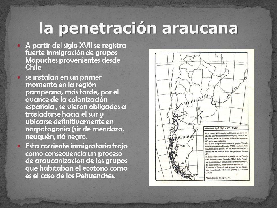la penetración araucana