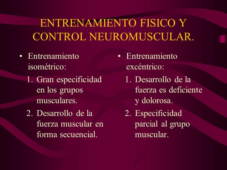 ENTRENAMIENTO FISICO Y CONTROL NEUROMUSCULAR.