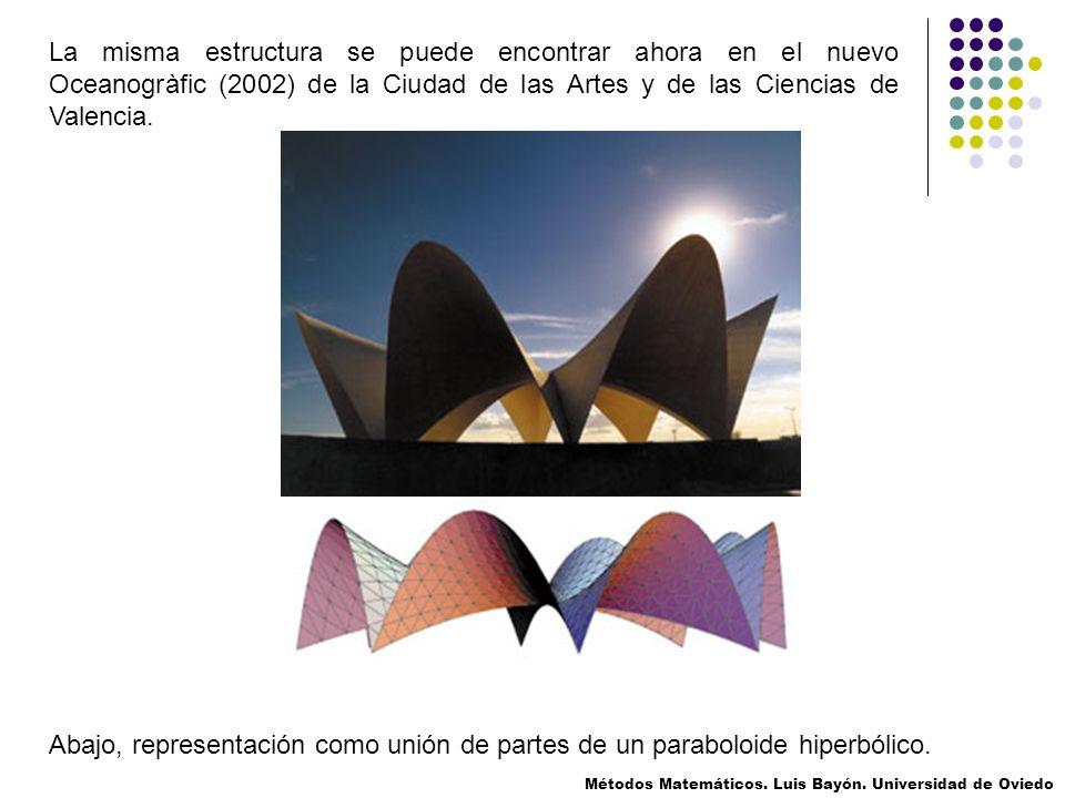 La misma estructura se puede encontrar ahora en el nuevo Oceanogràfic (2002) de la Ciudad de las Artes y de las Ciencias de Valencia.