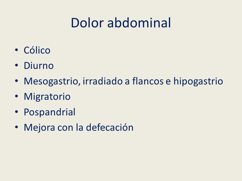 Dolor abdominal Cólico Diurno