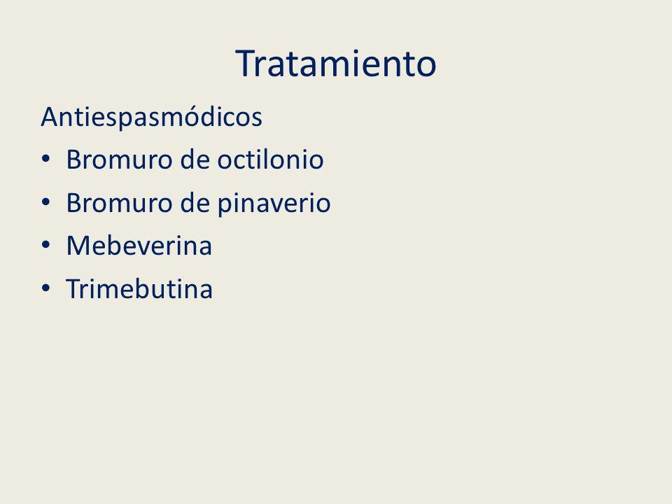 Tratamiento Antiespasmódicos Bromuro de octilonio Bromuro de pinaverio
