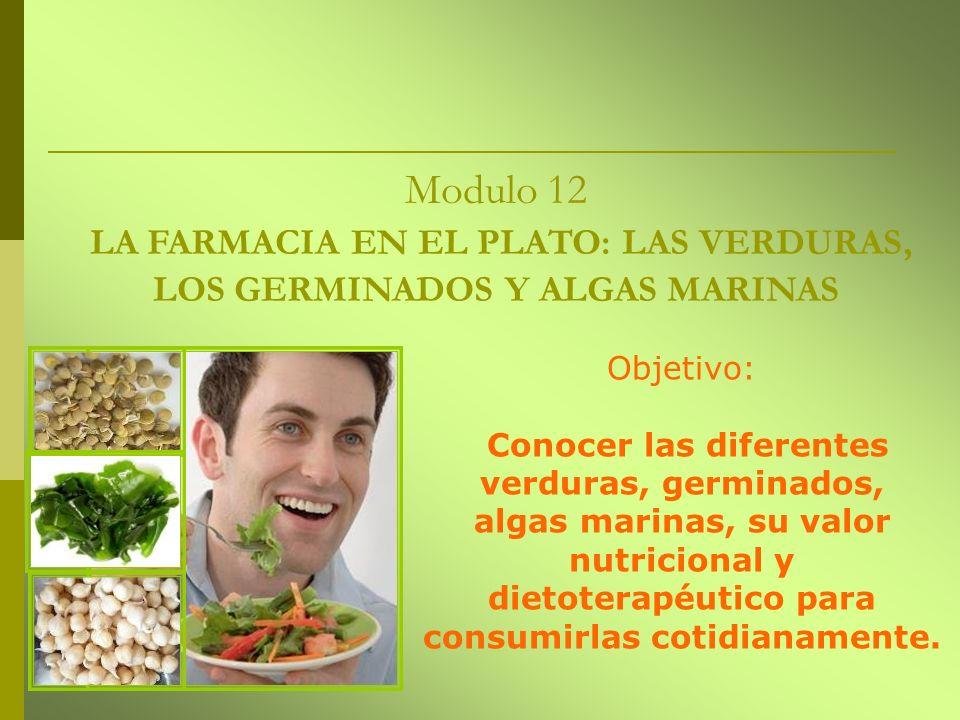 Modulo 12 LA FARMACIA EN EL PLATO: LAS VERDURAS, LOS GERMINADOS Y ALGAS MARINAS