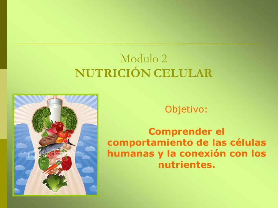 Modulo 2 NUTRICIÓN CELULAR