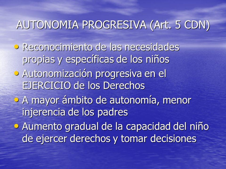 AUTONOMIA PROGRESIVA (Art. 5 CDN)