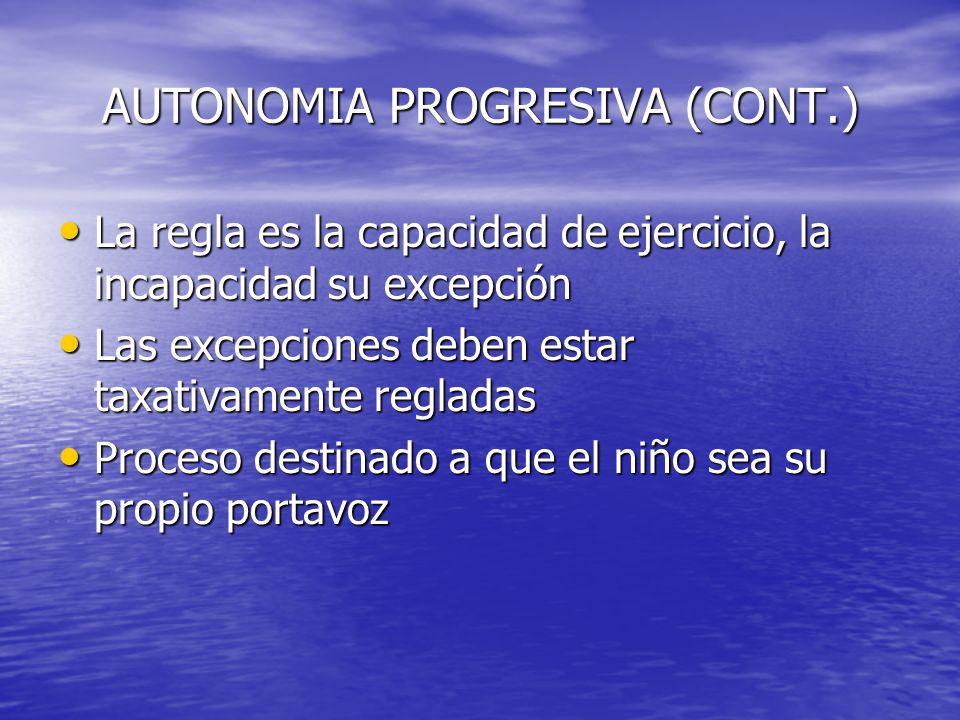 AUTONOMIA PROGRESIVA (CONT.)
