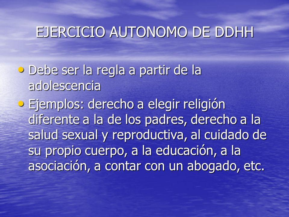 EJERCICIO AUTONOMO DE DDHH