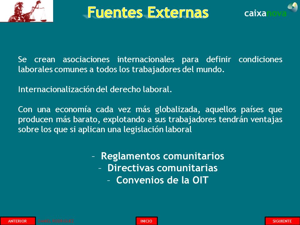 Reglamentos comunitarios Directivas comunitarias