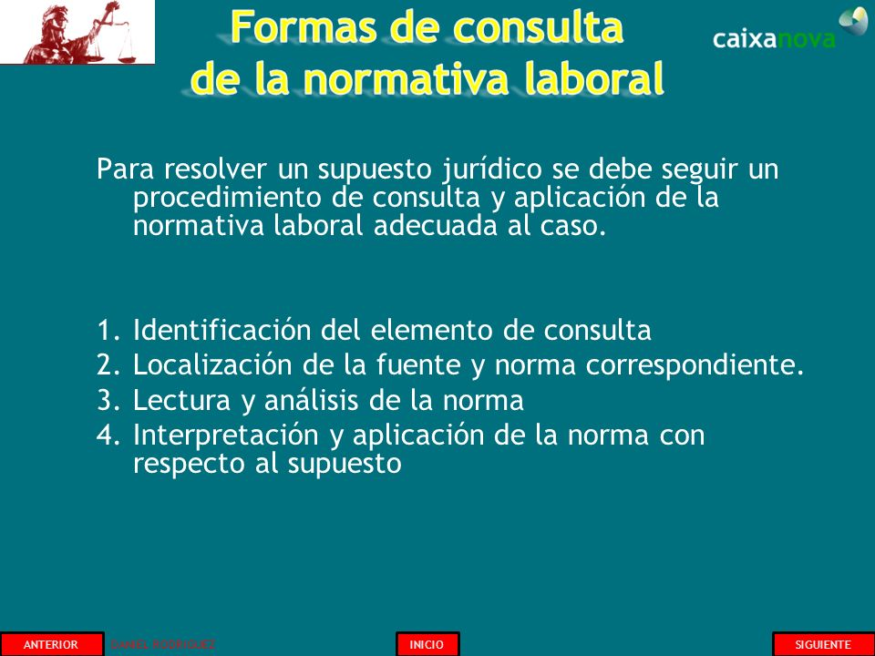 Formas de consulta de la normativa laboral
