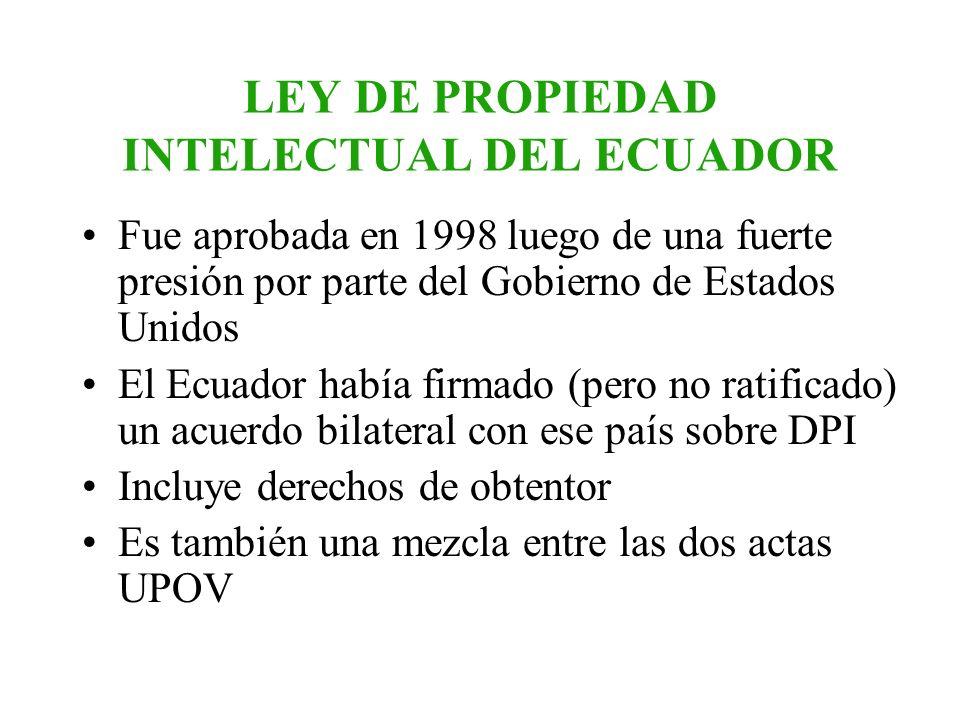 LEY DE PROPIEDAD INTELECTUAL DEL ECUADOR