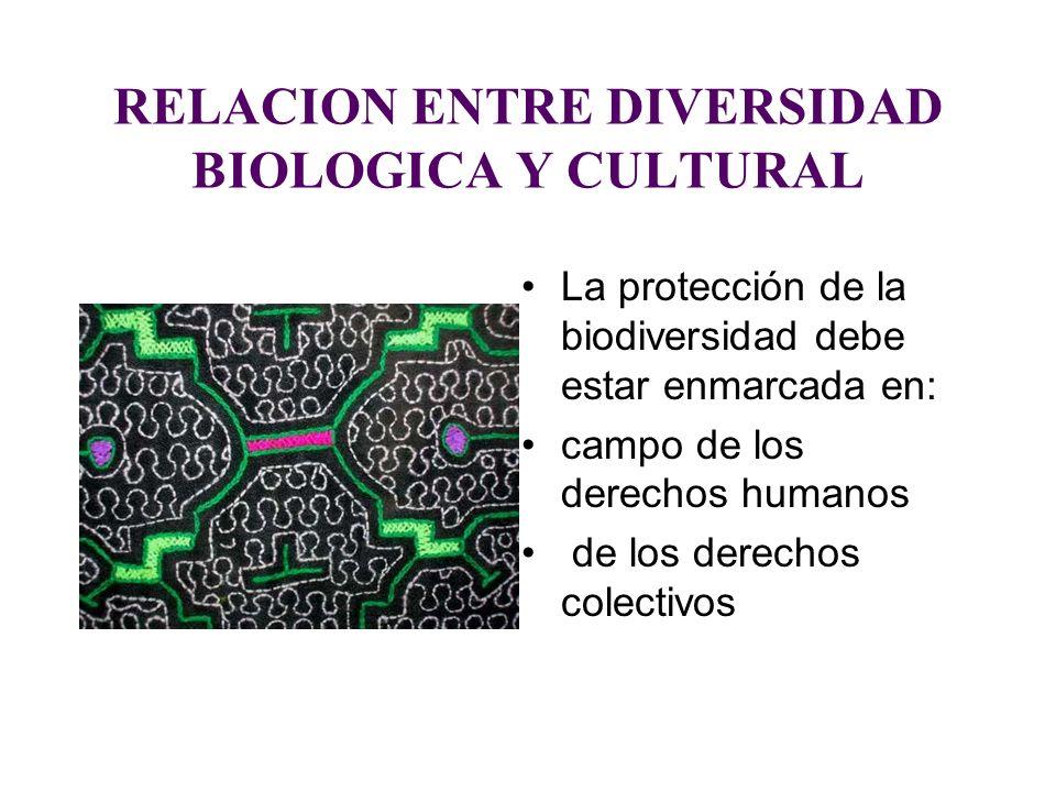 RELACION ENTRE DIVERSIDAD BIOLOGICA Y CULTURAL