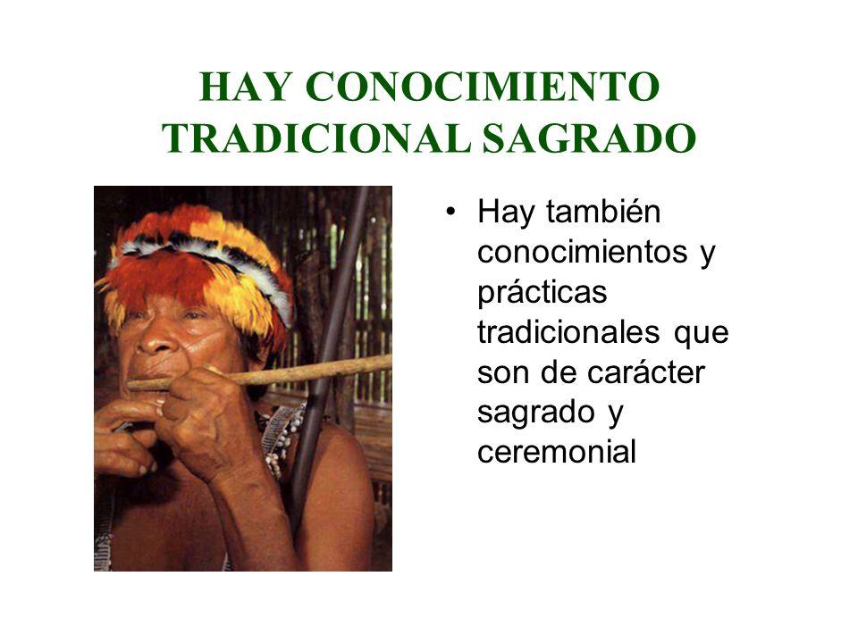 HAY CONOCIMIENTO TRADICIONAL SAGRADO