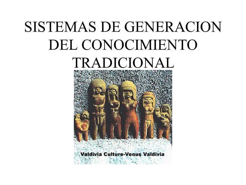 SISTEMAS DE GENERACION DEL CONOCIMIENTO TRADICIONAL