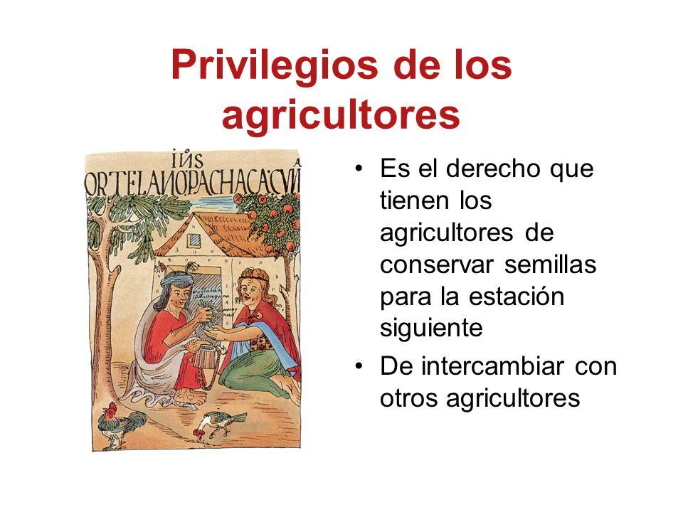 Privilegios de los agricultores
