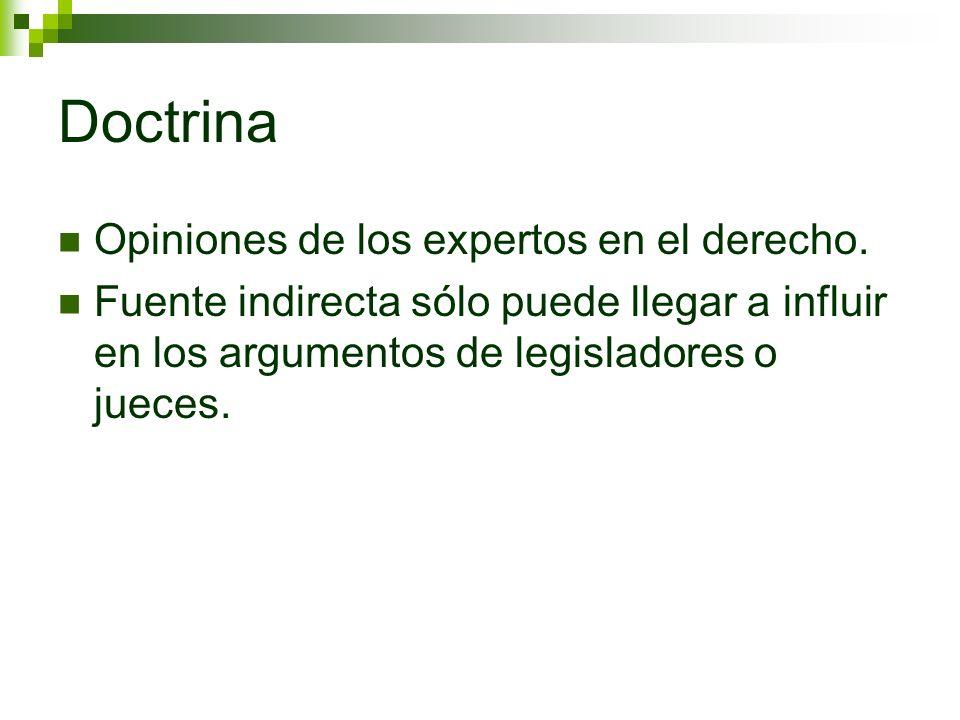 Doctrina Opiniones de los expertos en el derecho.