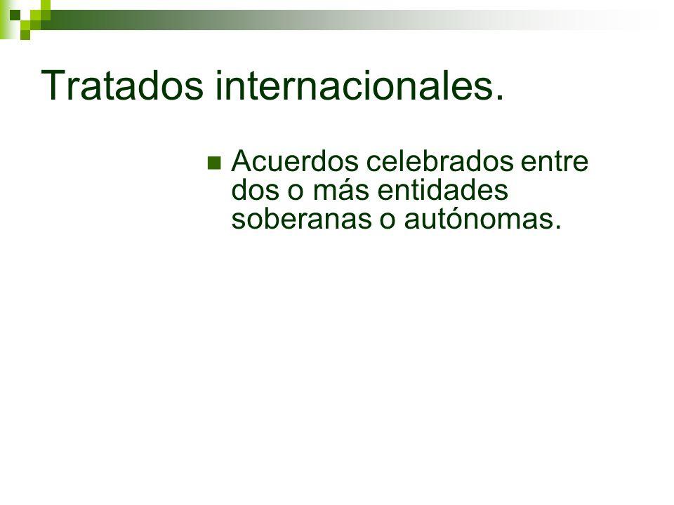 Tratados internacionales.