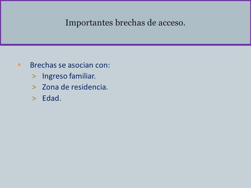 Importantes brechas de acceso.