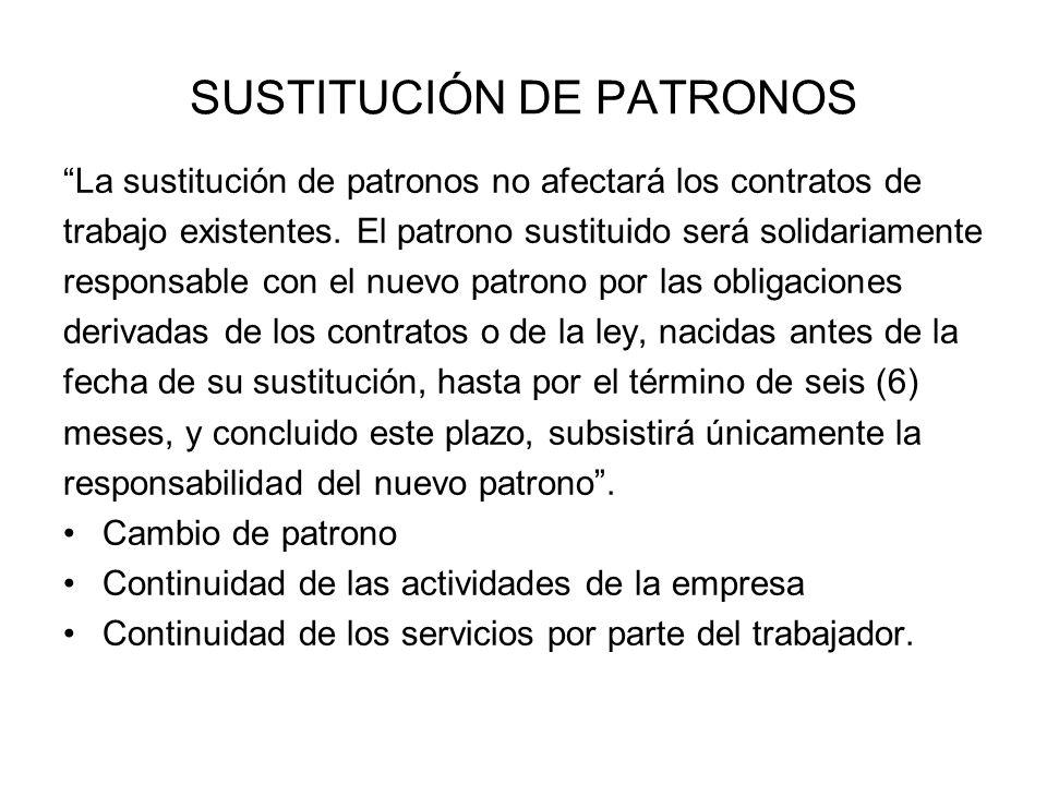 SUSTITUCIÓN DE PATRONOS