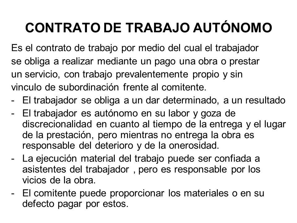 CONTRATO DE TRABAJO AUTÓNOMO