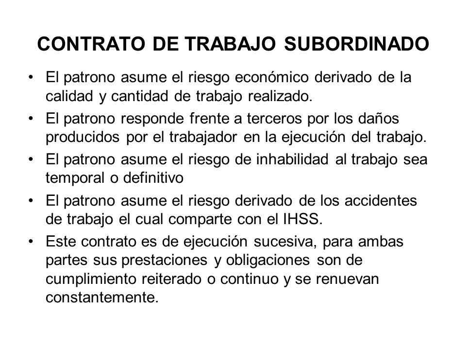 CONTRATO DE TRABAJO SUBORDINADO