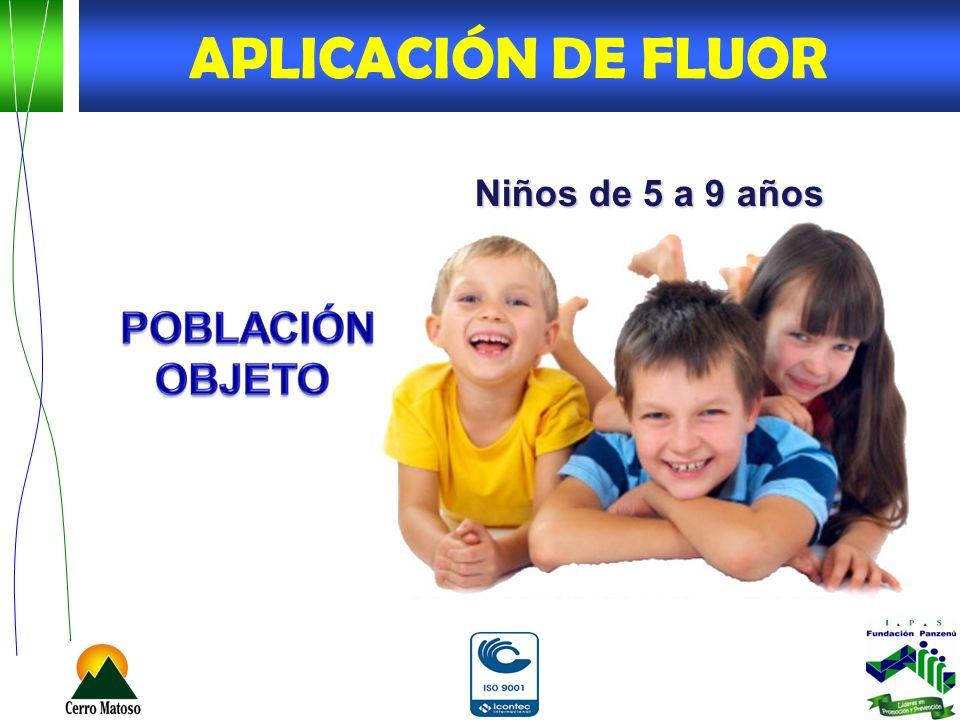 APLICACIÓN DE FLUOR Niños de 5 a 9 años