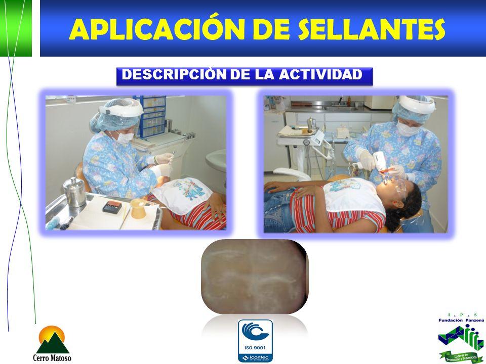 APLICACIÓN DE SELLANTES