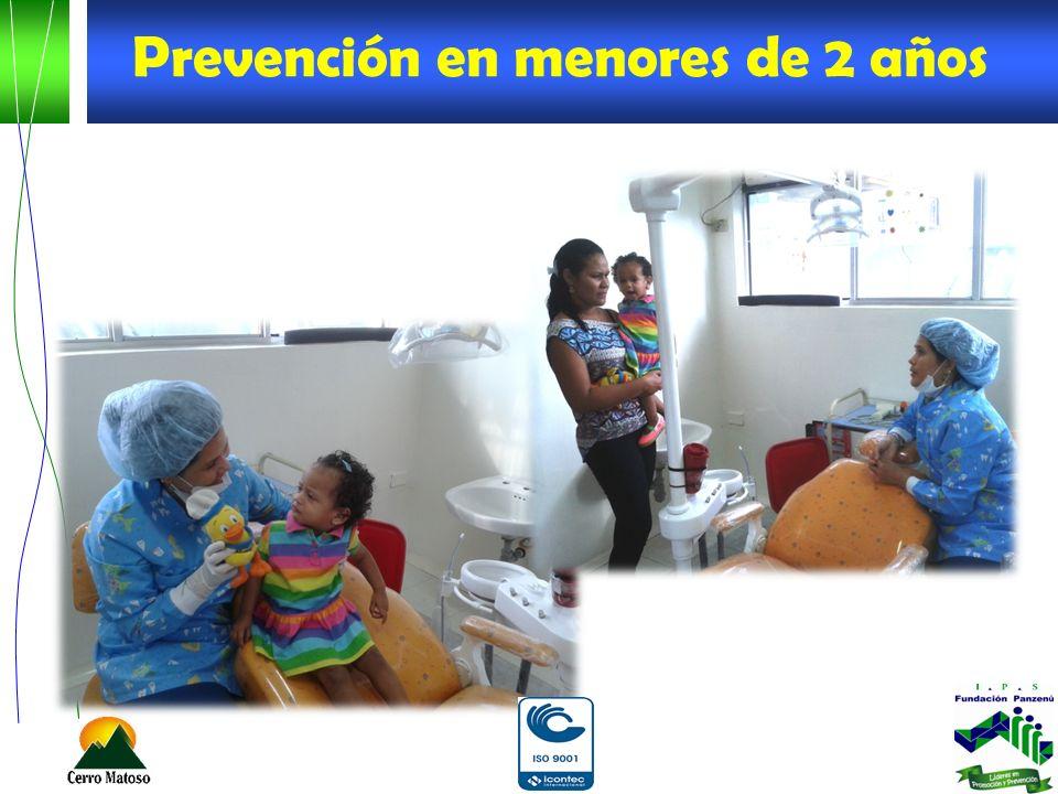 Prevención en menores de 2 años