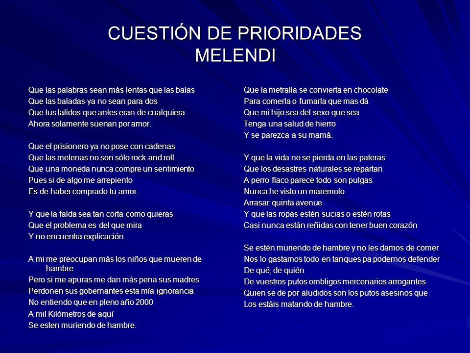 CUESTIÓN DE PRIORIDADES MELENDI