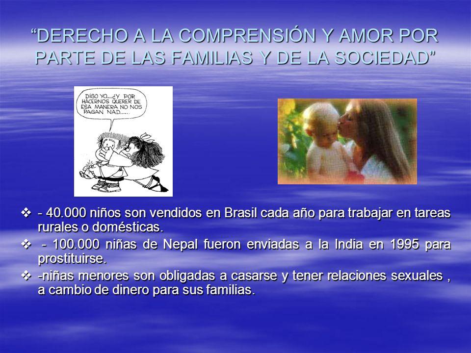 DERECHO A LA COMPRENSIÓN Y AMOR POR PARTE DE LAS FAMILIAS Y DE LA SOCIEDAD