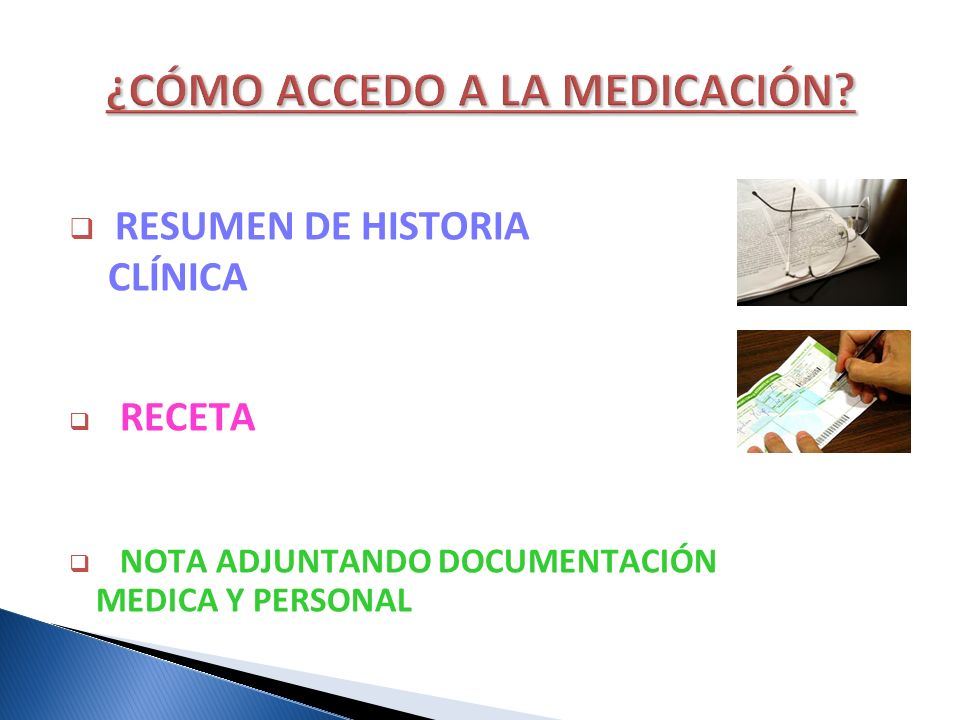 ¿CÓMO ACCEDO A LA MEDICACIÓN