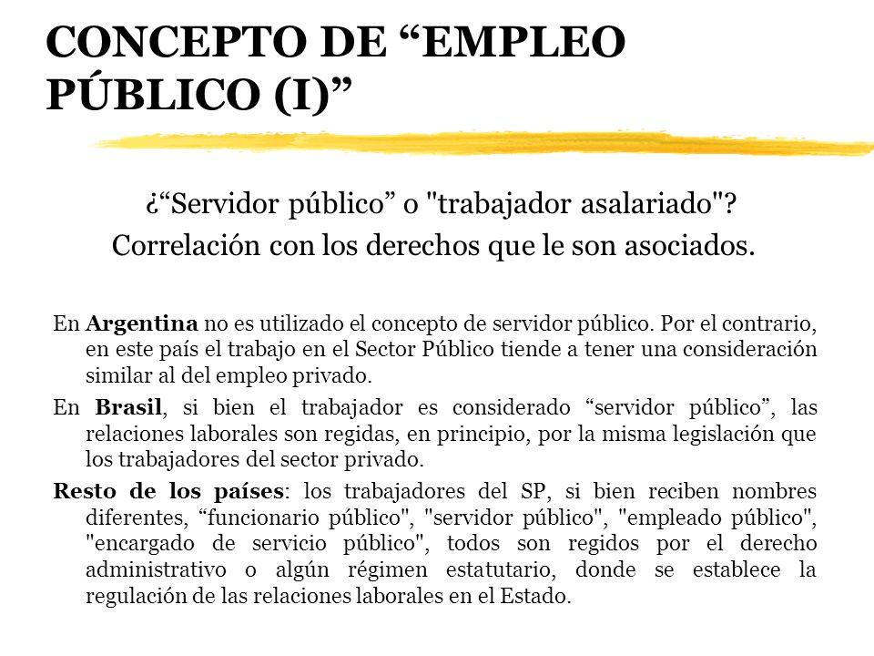 CONCEPTO DE EMPLEO PÚBLICO (I)