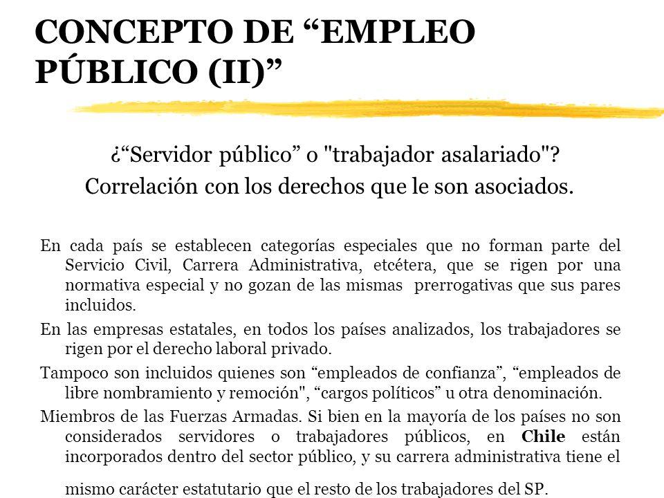CONCEPTO DE EMPLEO PÚBLICO (II)