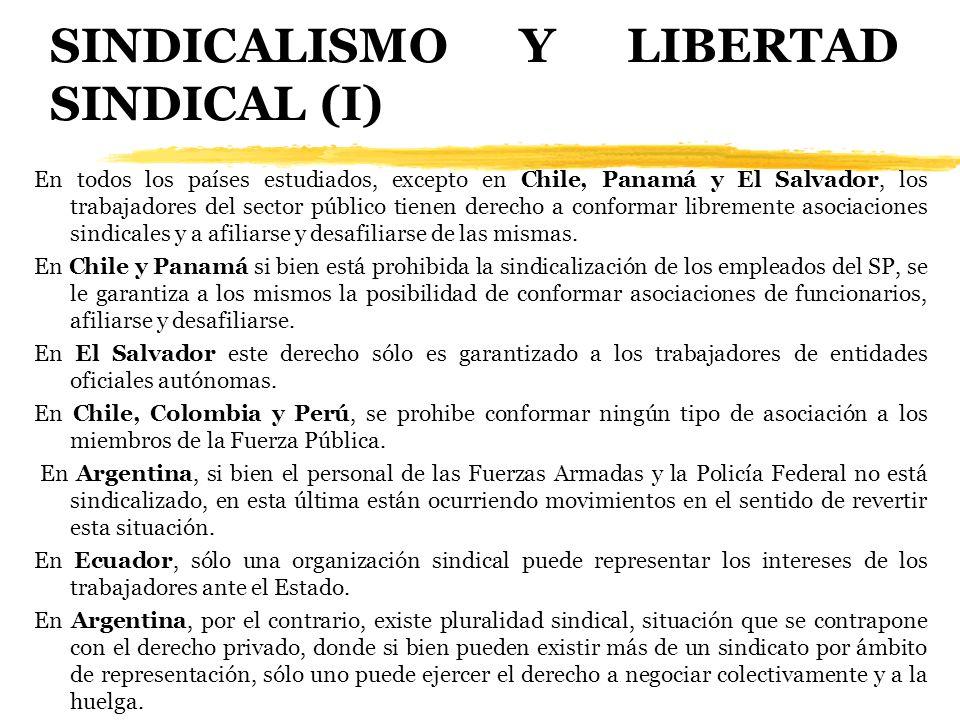 SINDICALISMO Y LIBERTAD SINDICAL (I)