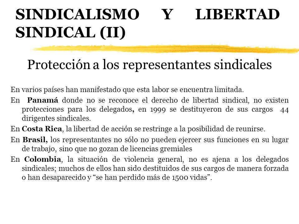 SINDICALISMO Y LIBERTAD SINDICAL (II)