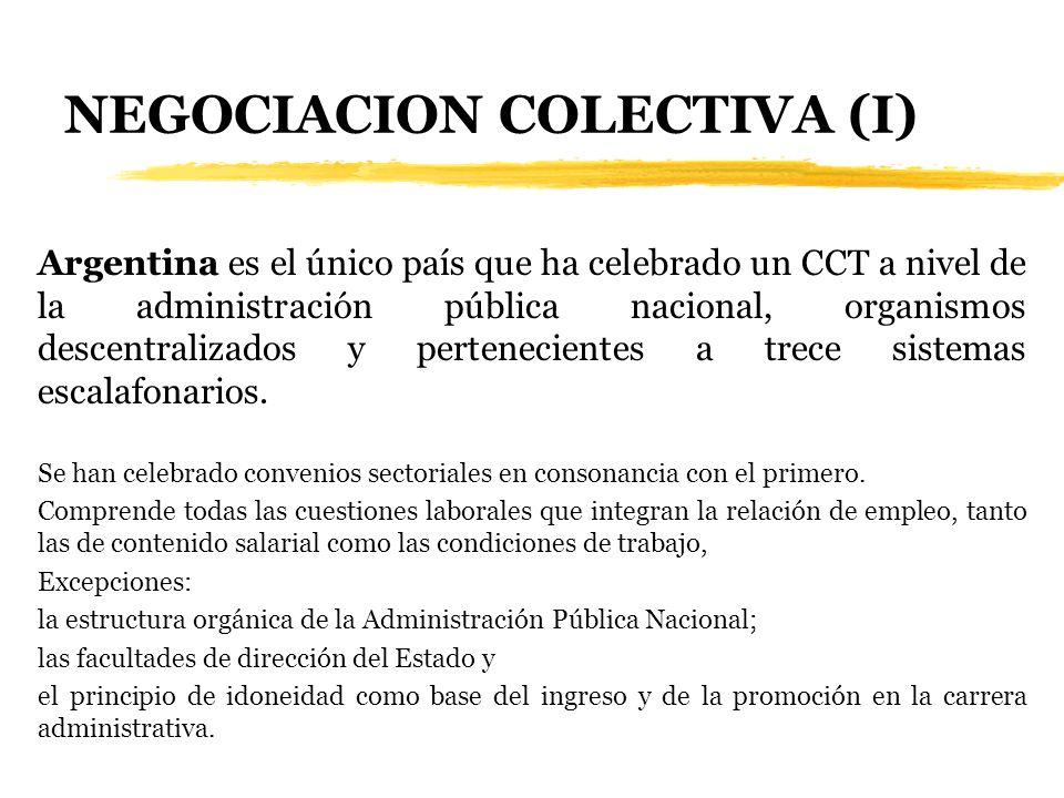 NEGOCIACION COLECTIVA (I)