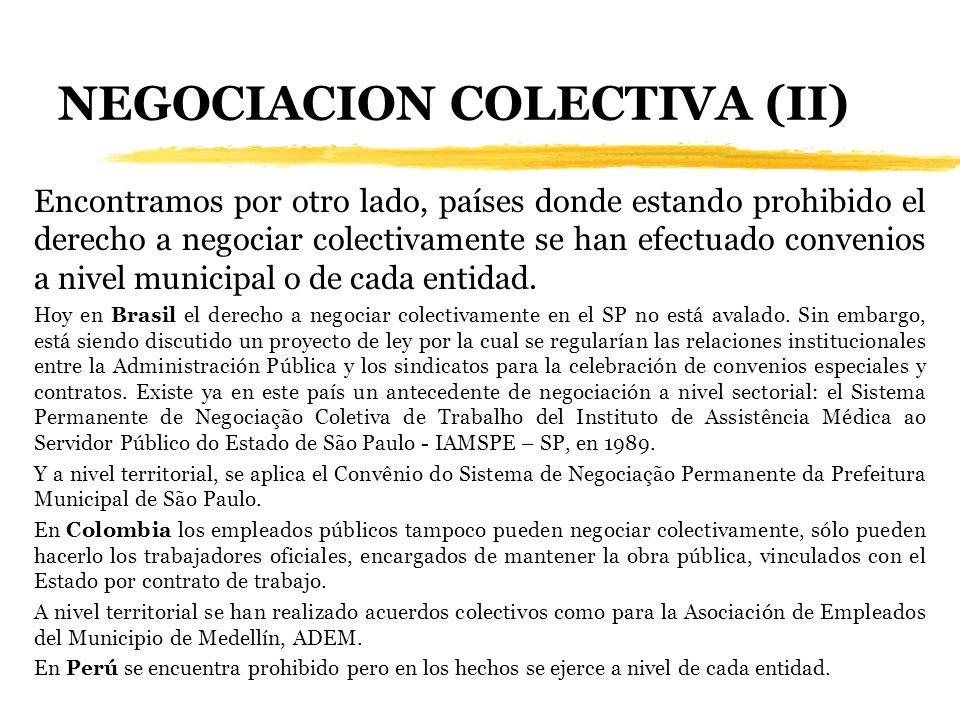 NEGOCIACION COLECTIVA (II)