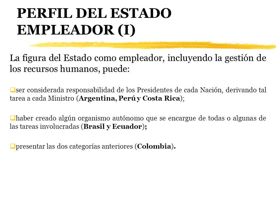 PERFIL DEL ESTADO EMPLEADOR (I)