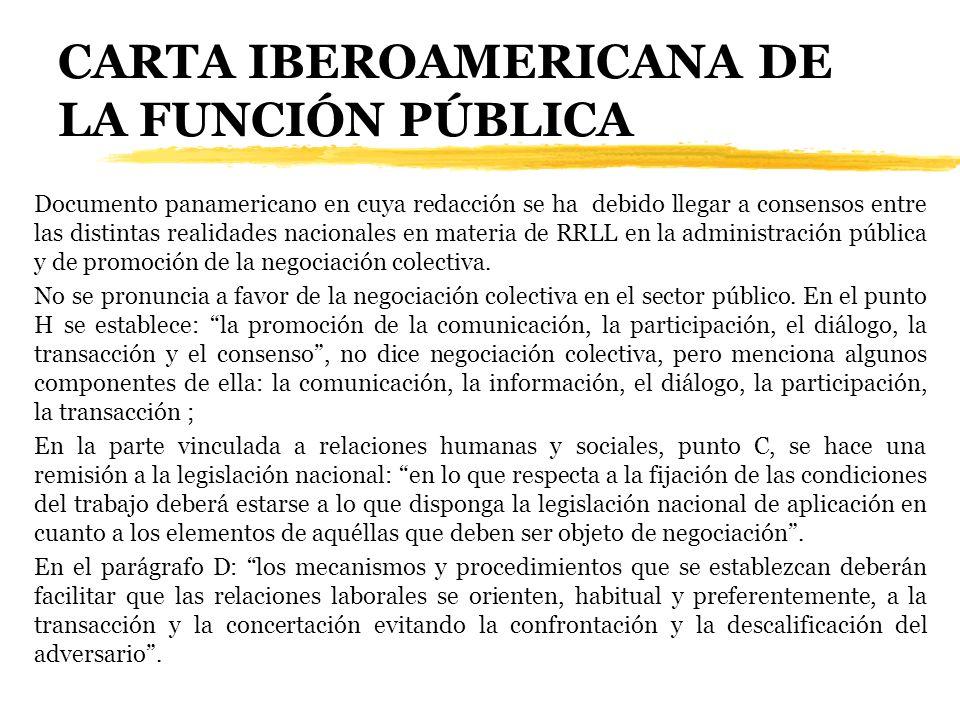 CARTA IBEROAMERICANA DE LA FUNCIÓN PÚBLICA