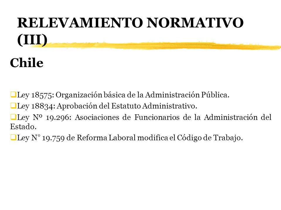 RELEVAMIENTO NORMATIVO (III)