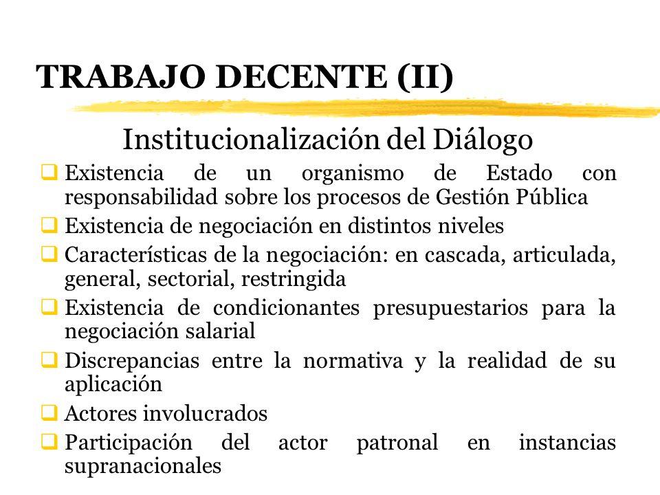 Institucionalización del Diálogo